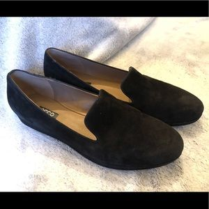 Ecco black suede loafers flats size 41